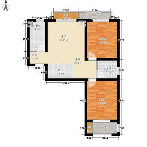 天地荣域2室0厅1卫1厨96.00㎡户型图