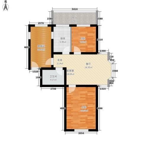 卉盛家园2室0厅1卫1厨80.00㎡户型图