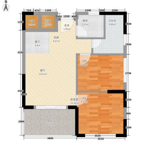 万泉河家园2室0厅1卫1厨82.00㎡户型图