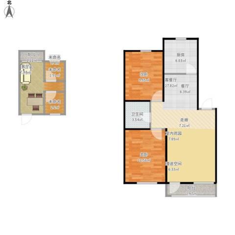 香槟新坐标2室1厅1卫1厨102.00㎡户型图