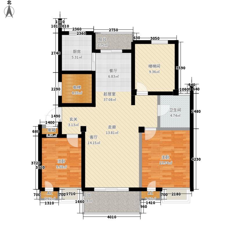 洋兴公寓户型图600x600 2室2厅1卫1厨