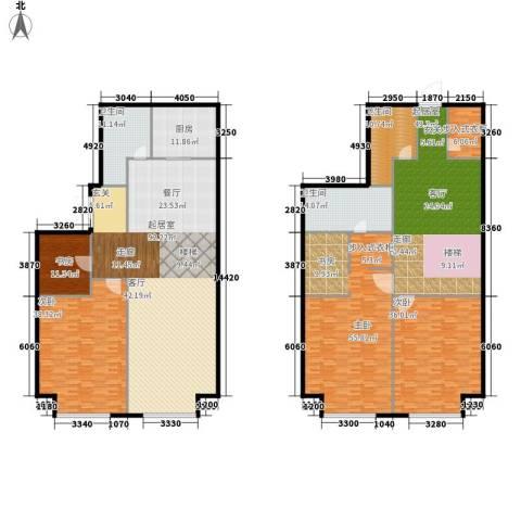 星海大观(沿海国际中心二期)4室0厅3卫1厨360.00㎡户型图