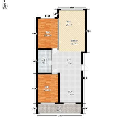 卉盛家园2室0厅1卫0厨120.00㎡户型图
