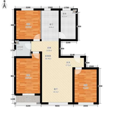 绿香村3室0厅1卫1厨127.00㎡户型图