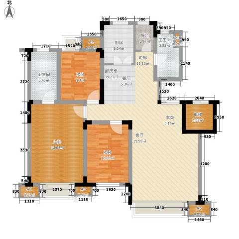 金地长青湾3室0厅2卫1厨114.13㎡户型图