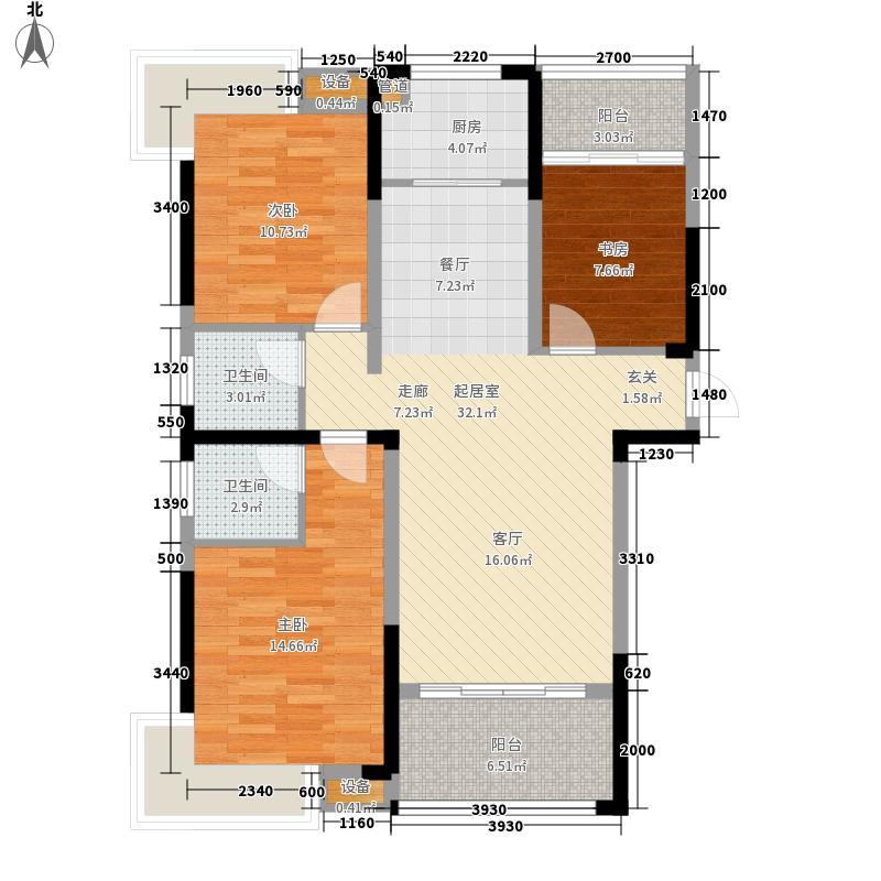 呈祥中央首府12.00㎡3#C户型3室2厅2卫1厨