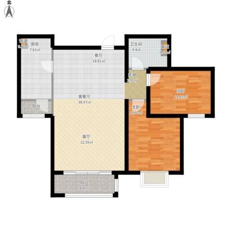 悦澜湾2室1厅1卫1厨116.00㎡户型图