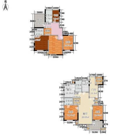 顺城名湾5室0厅4卫1厨222.00㎡户型图