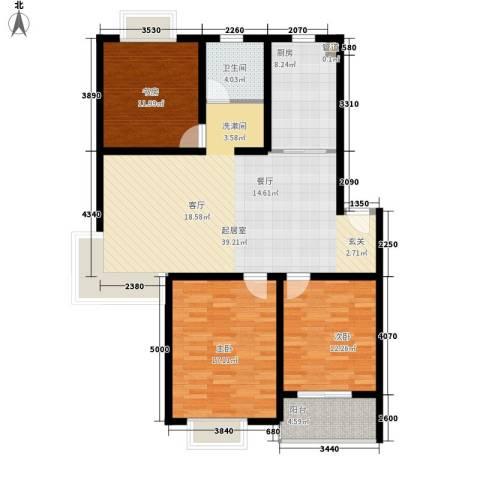 鸿山锦苑3室0厅1卫1厨111.00㎡户型图