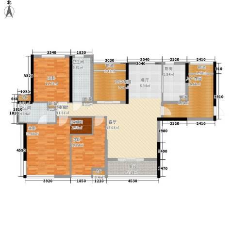 南山・苏迪亚诺3室0厅2卫1厨139.00㎡户型图