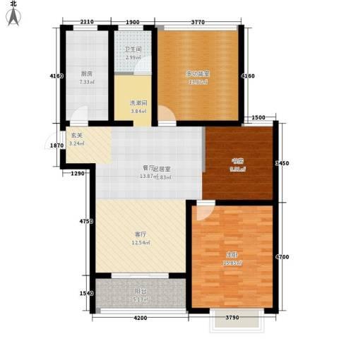 华夏太阳城二期1室0厅1卫1厨102.00㎡户型图