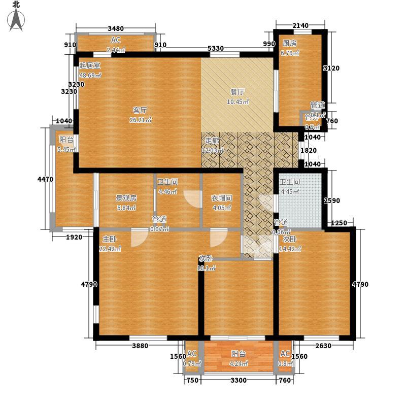 三箭汇福山庄154.00㎡5号楼观景洋房 三室两厅两卫户型3室2厅2卫
