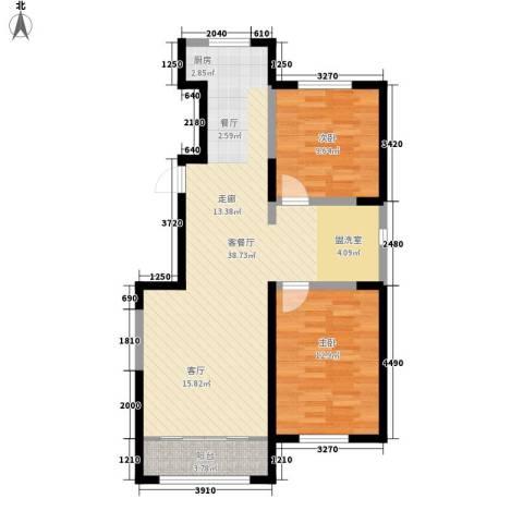 中顺福苑2室1厅0卫0厨94.00㎡户型图