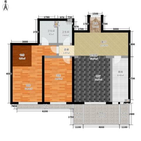 世纪城国际公馆二期2室0厅2卫1厨144.00㎡户型图
