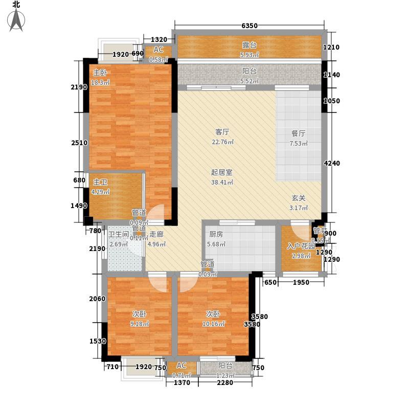 巴国龙庭花园洋房1/2/3号楼3层C-3a户型2室2厅