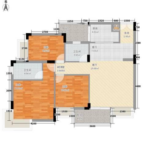 梅花山庄3室0厅2卫1厨500.00㎡户型图