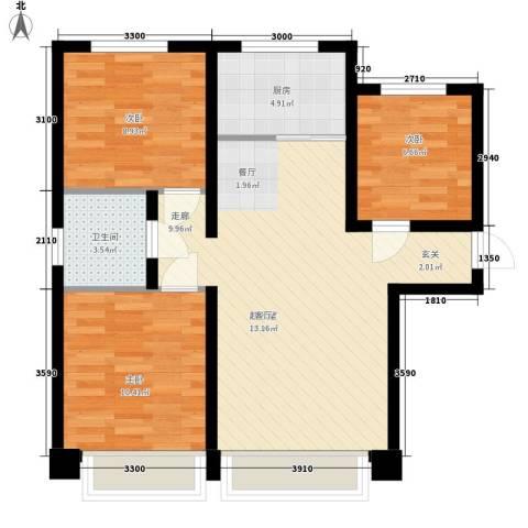 武铁向阳小区3室0厅1卫1厨88.00㎡户型图