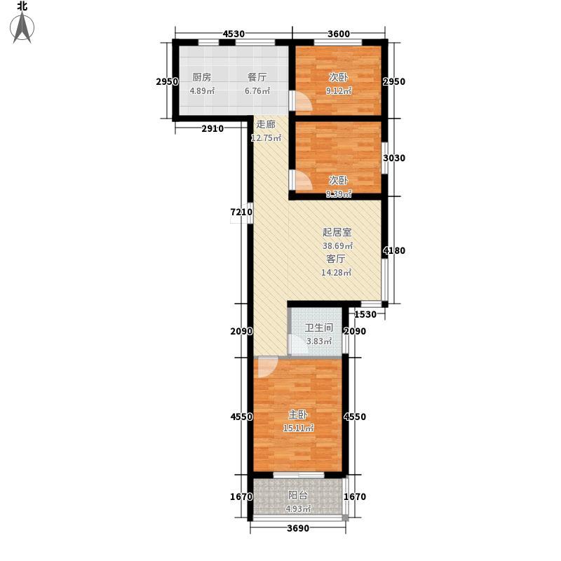 在水一方119.95㎡C7#楼A反户型3室2厅