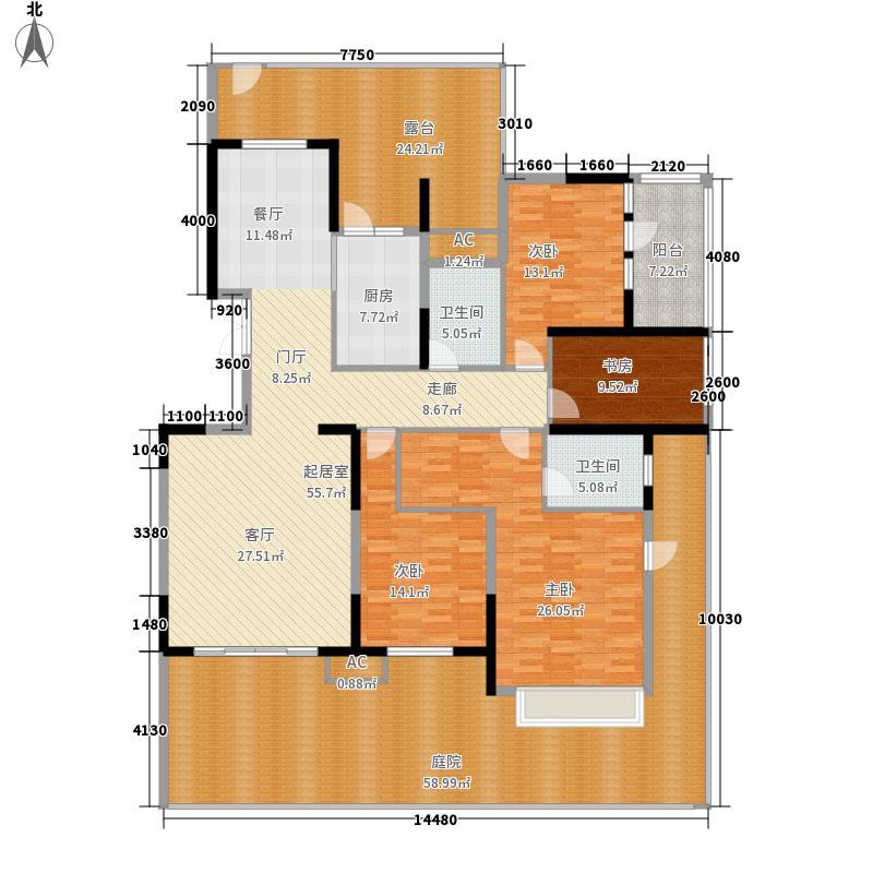 金地湖城大境177.53㎡金地湖城大境户型图D5户型图4室2厅2卫1厨户型4室2厅2卫1厨