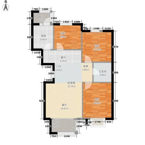 银河家园3室0厅1卫1厨94.00㎡户型图