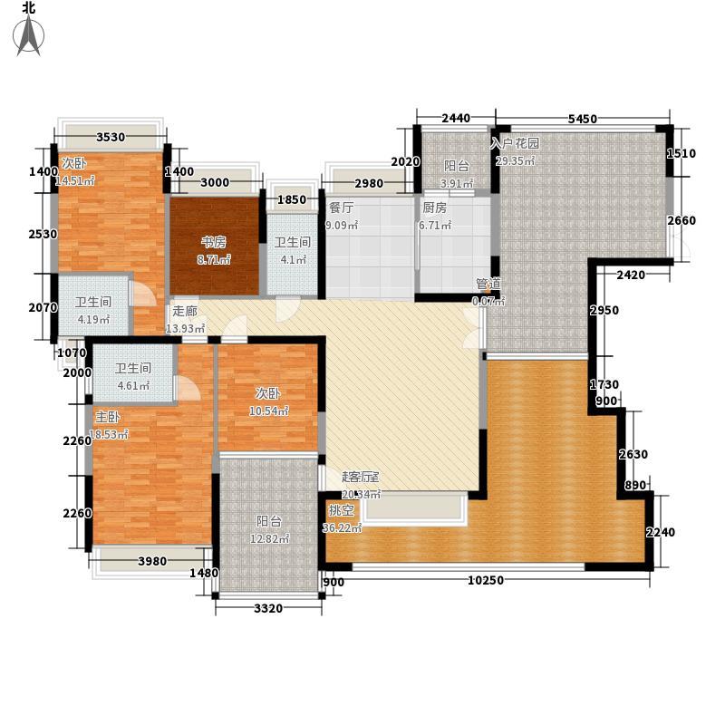 公园大地169.00㎡22栋01(偶数层)四房二厅三卫户型