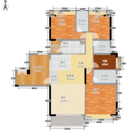 奥园海景城4室0厅3卫1厨180.00㎡户型图