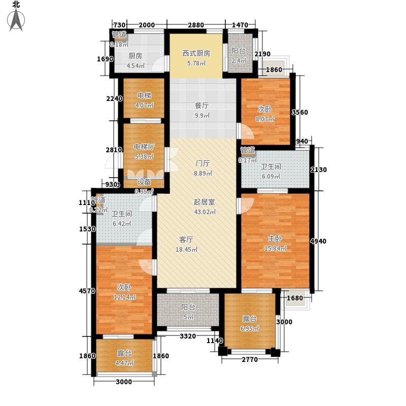 龙湖佘山公馆146.00㎡B户型3室2厅2卫2厨