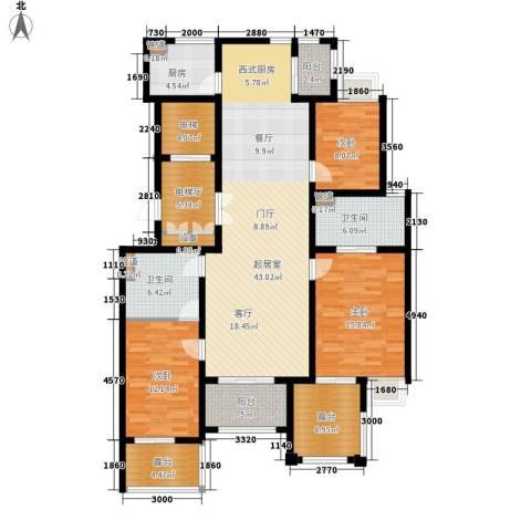 龙湖佘山公馆3室0厅2卫1厨146.00㎡户型图