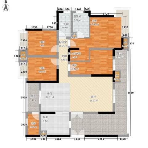 井湾子机械化厂宿舍5室0厅2卫1厨129.74㎡户型图