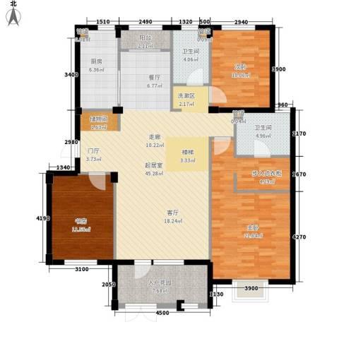保利花园第五季3室0厅2卫1厨159.00㎡户型图