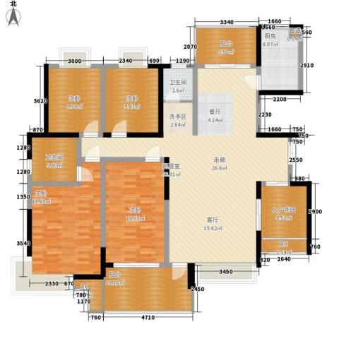 华银天际二期4室0厅2卫1厨175.00㎡户型图