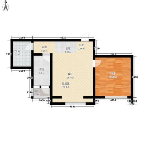 豪隆福顺江山1室0厅1卫1厨67.00㎡户型图