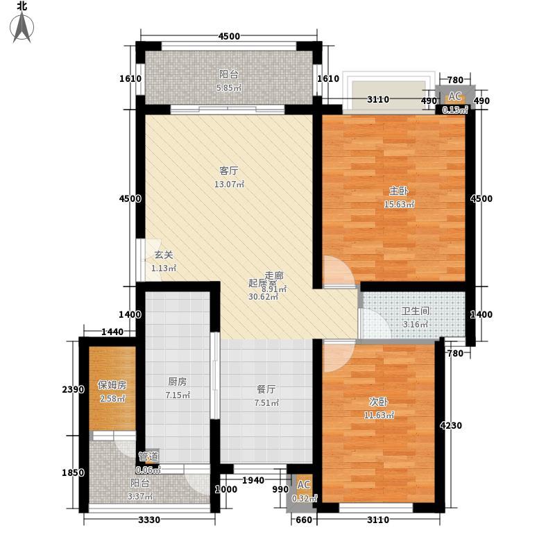 海上普罗旺斯90.00㎡海上普罗旺斯户型图户型图2室2厅1卫户型2室2厅1卫