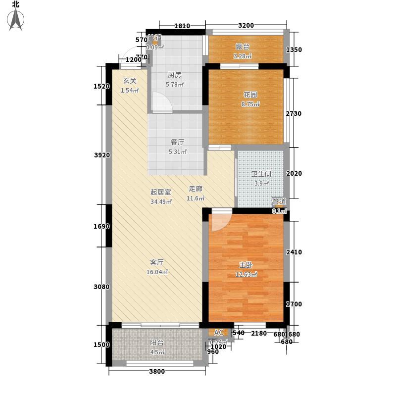 上东城市之光89.00㎡上东城市之光户型图一期户型图2室2厅1卫户型2室2厅1卫