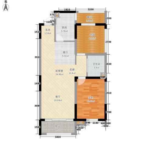 上东城市之光1室0厅1卫1厨89.00㎡户型图
