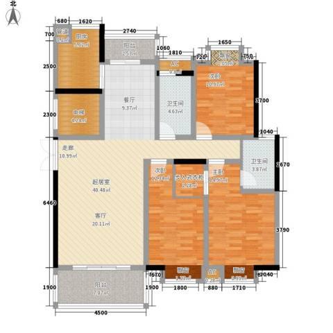 联泰香域滨江3室0厅2卫1厨138.00㎡户型图