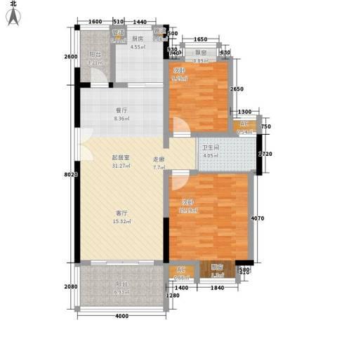 联泰香域滨江2室0厅1卫1厨95.00㎡户型图