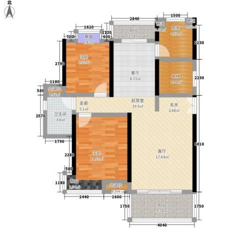 联泰香域滨江2室0厅1卫1厨96.00㎡户型图