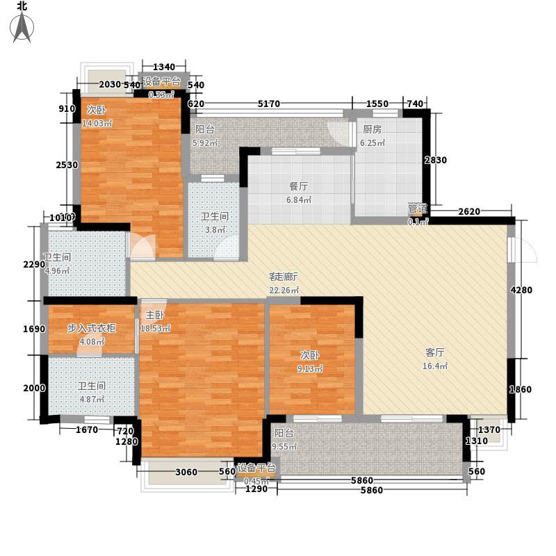 海琴水岸155.96㎡海琴水岸户型图26#A户型3室2厅3卫户型3室2厅3卫
