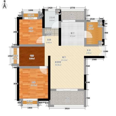 联泰香域滨江2室0厅1卫1厨94.00㎡户型图