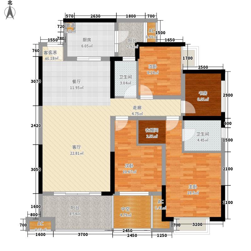 国际社区·观园二期C13号楼1单元2号、二单元4号户型4室2厅