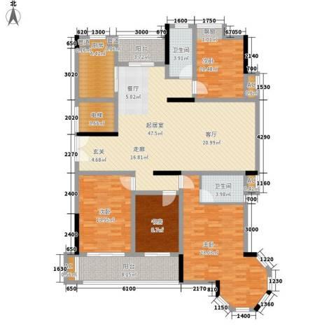 联泰香域滨江4室0厅2卫1厨166.00㎡户型图