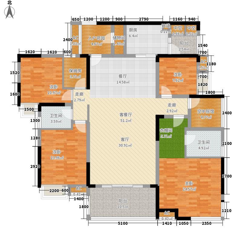 国际社区158.00㎡江御一期4号楼标准层a户型