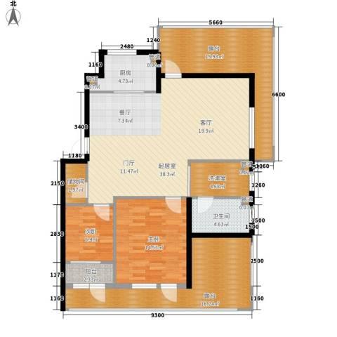 保利花园第五季2室0厅1卫1厨154.00㎡户型图