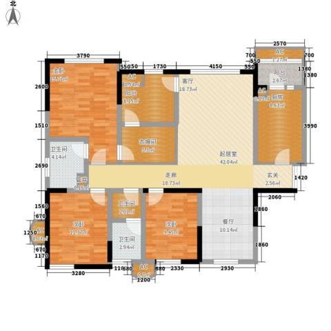 神仙树大院(高新)3室0厅3卫1厨147.00㎡户型图