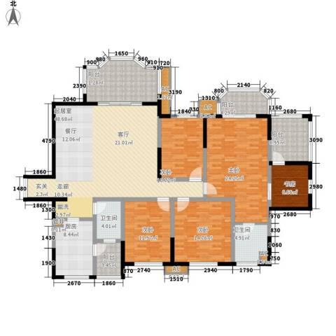 神仙树大院(高新)5室0厅2卫1厨194.00㎡户型图