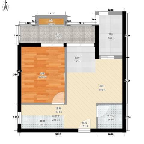 玛雅上层1室0厅1卫1厨65.00㎡户型图