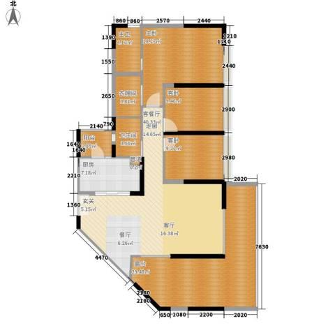 钢琴家 珠海3室1厅1卫1厨179.00㎡户型图