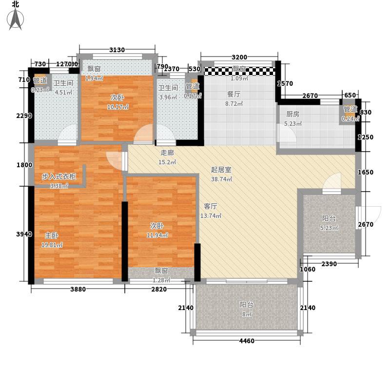 敏捷・金月湾127.00㎡敏捷・金月湾户型图11座03户型3室2厅2卫1厨户型3室2厅2卫1厨
