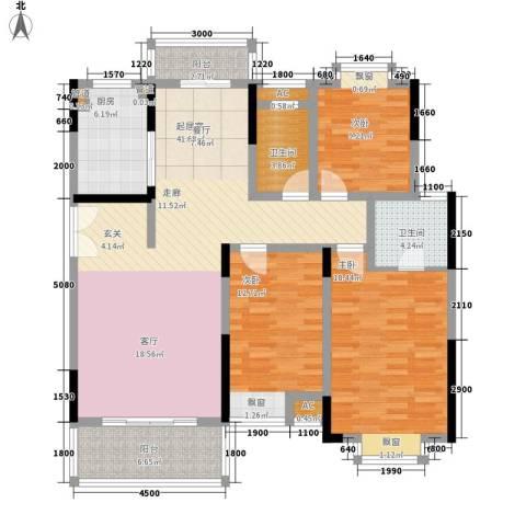 联泰香域滨江3室0厅2卫1厨155.00㎡户型图